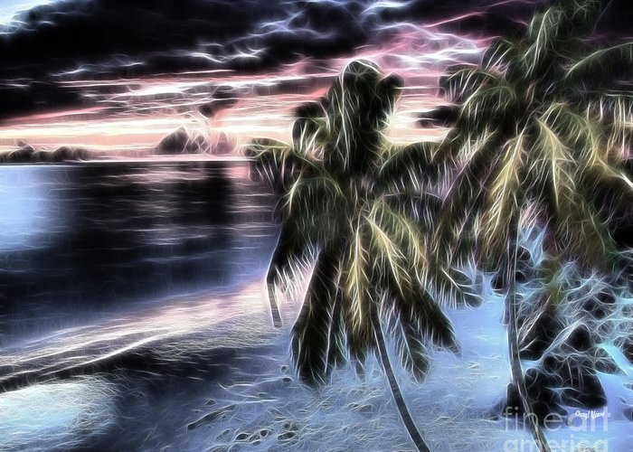 East Oahu Greeting Card featuring the photograph Tropical Evening by Cheryl Young