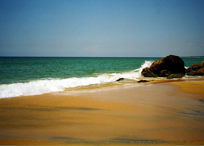 India Greeting Card featuring the photograph Tropical Sandy Beach by Jasna Buncic