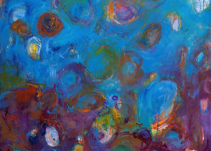 Abstract Expressionistic Greeting Card featuring the painting Truth In Dreams I by Johnathan Harris
