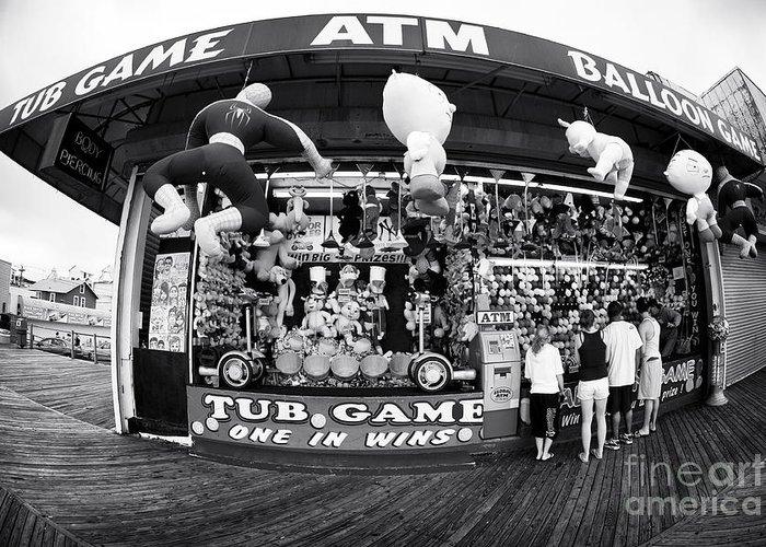 Tub Game Greeting Card featuring the photograph Tub Game by John Rizzuto