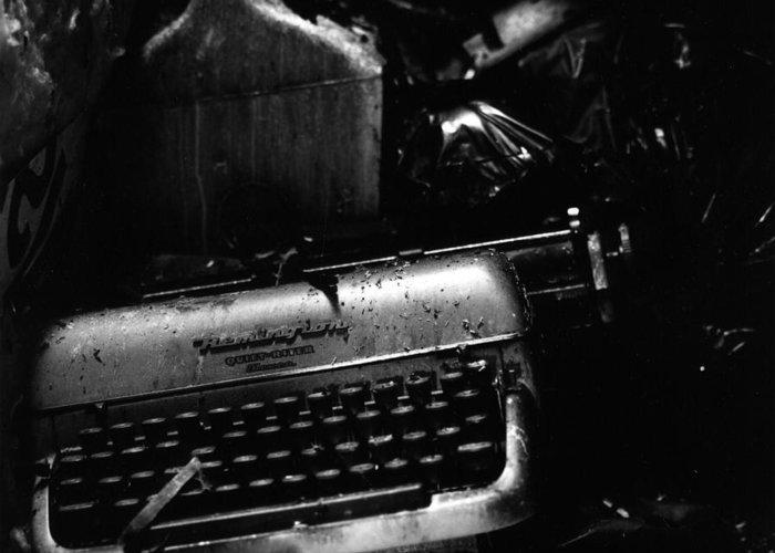 Typewriter Greeting Card featuring the photograph Typewriter by Eric Tadsen