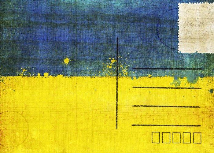 Address Greeting Card featuring the photograph Ukraine Flag Postcard by Setsiri Silapasuwanchai