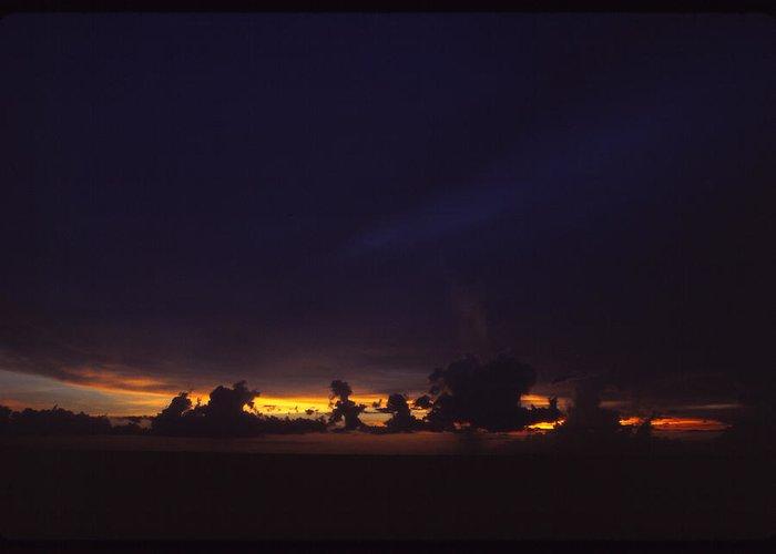Sky Greeting Card featuring the photograph Under Darken Sky by Bob Whitt