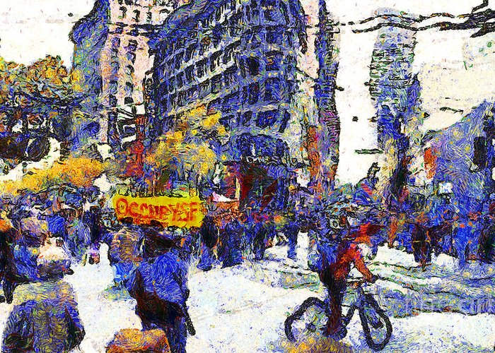 Vangogh Greeting Card featuring the photograph Van Gogh Occupies San Francisco . 7d9733 by Wingsdomain Art and Photography