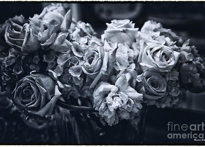 Flowers Greeting Card featuring the photograph Vase Of Flowers 2 by Madeline Ellis