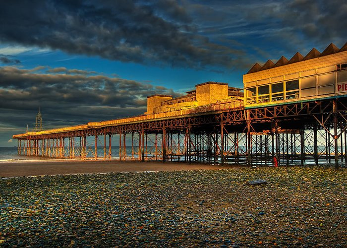 Beach Greeting Card featuring the photograph Victorian Pier by Adrian Evans