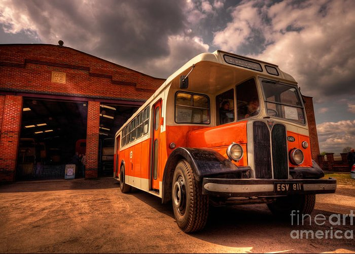 Bus Greeting Card featuring the photograph Vintage Bus by Rob Hawkins