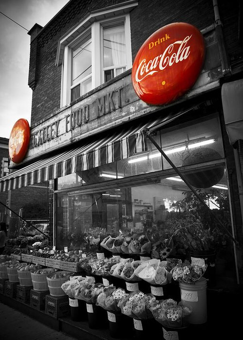 Coke Greeting Card featuring the photograph Vintage Store by Kamil Swiatek