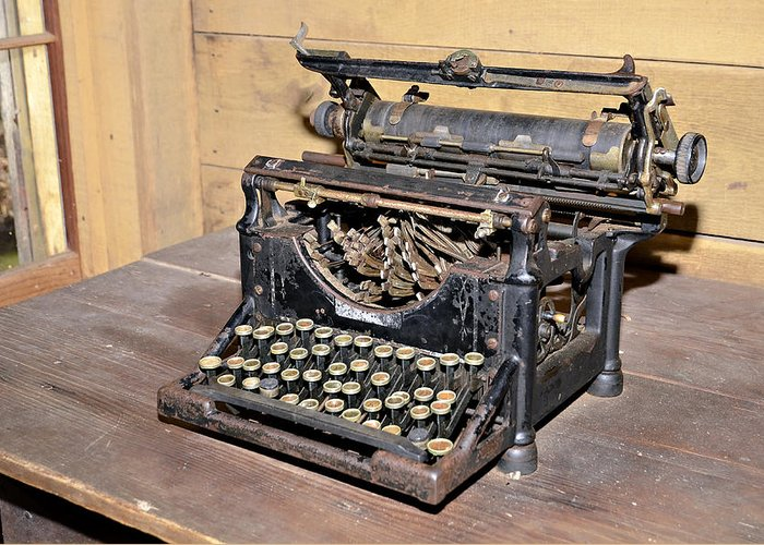 Greeting Card featuring the photograph Vintage Typewriter by Susan Leggett