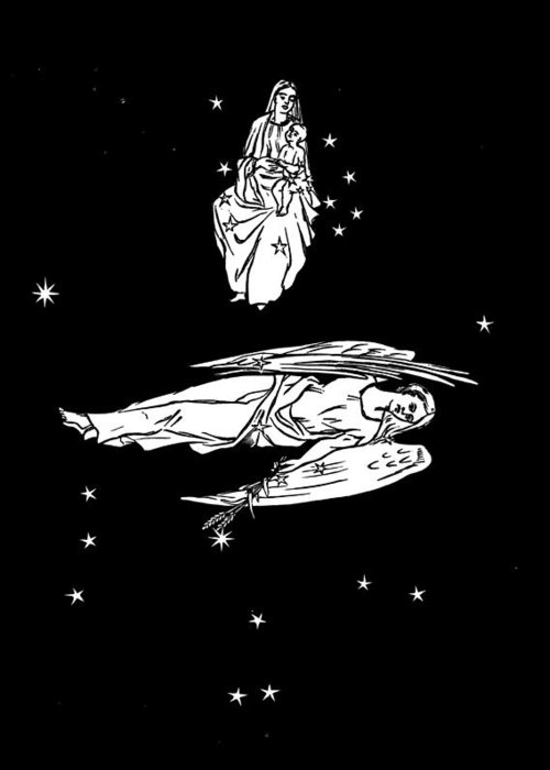 Virgo Greeting Card featuring the photograph Virgo And Coma Constellations, Artwork by