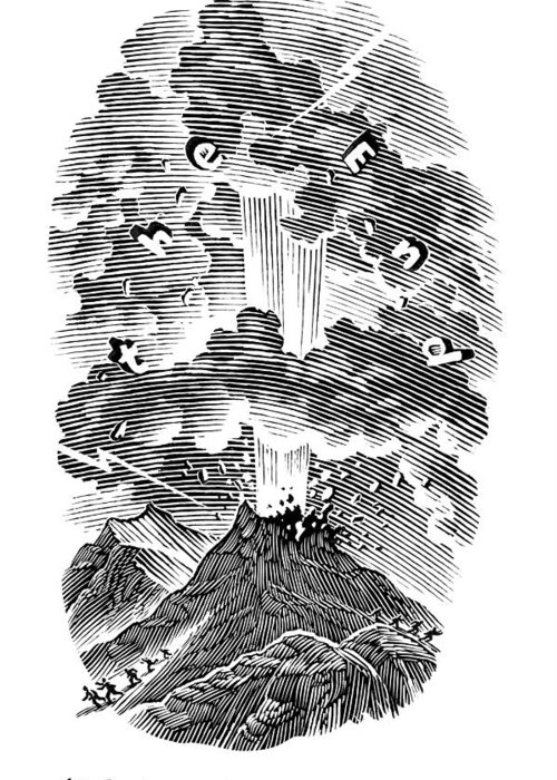 Human Greeting Card featuring the photograph Volcanic Eruption, Artwork by Bill Sanderson