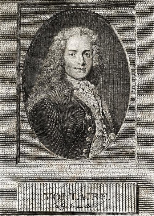 Voltaire Greeting Card featuring the photograph Voltaire, French Author by Middle Temple Library