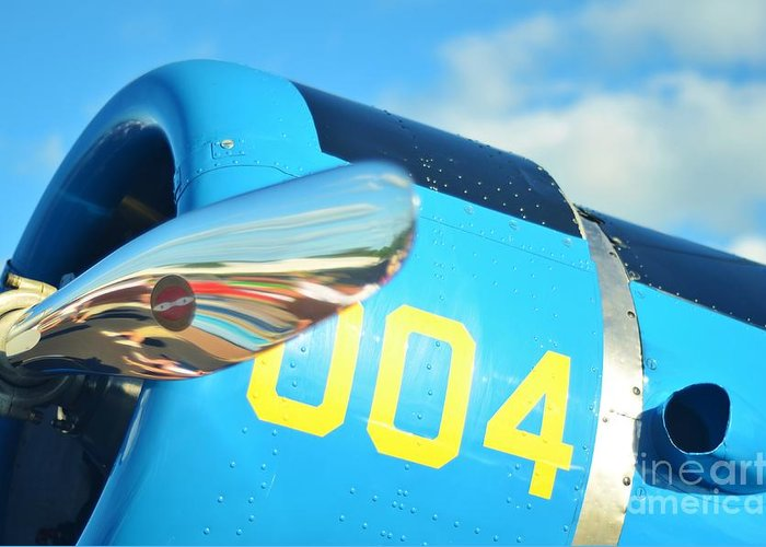Vultee Bt-13 Valiant Greeting Card featuring the photograph Vultee Bt-13 Valiant Nose by Lynda Dawson-Youngclaus