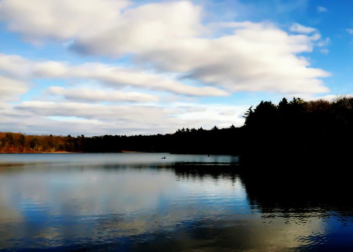 Walden Pond Greeting Card featuring the photograph Walden Pond Reverie by Frank Winters