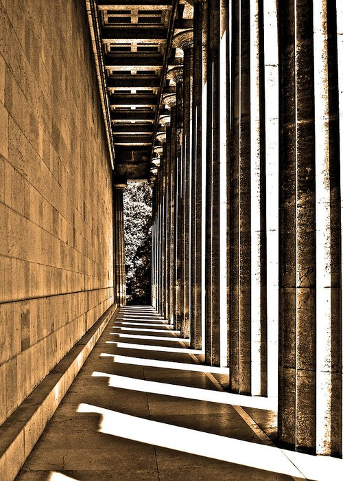 Europe Greeting Card featuring the photograph Walhalla Colonnade ... by Juergen Weiss