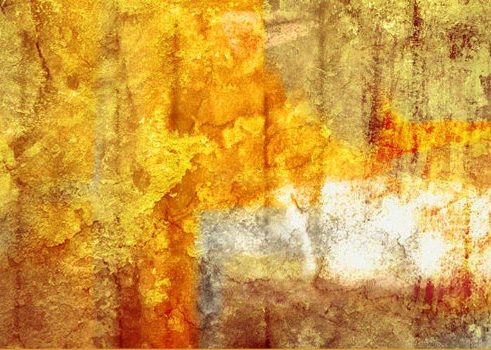 Brett Greeting Card featuring the digital art Warm Abstract by Brett Pfister