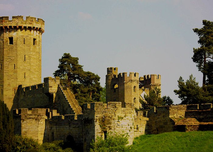 Warwick Greeting Card featuring the photograph Warwick Castle by Ian Flear