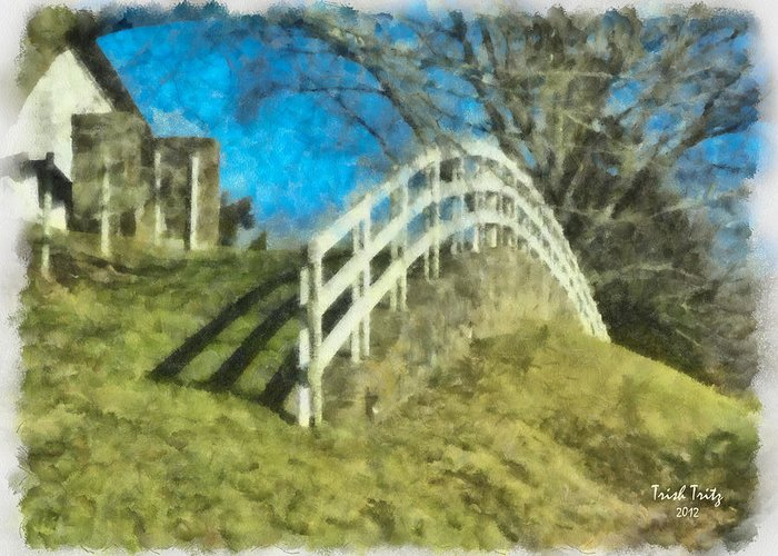 Warwick Furnace Greeting Card featuring the photograph Warwick's Curve by Trish Tritz