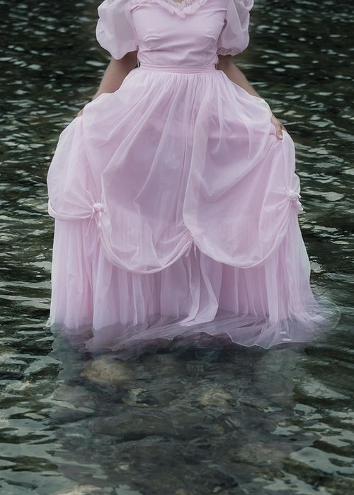 Female Greeting Card featuring the photograph Water Bride by Joana Kruse