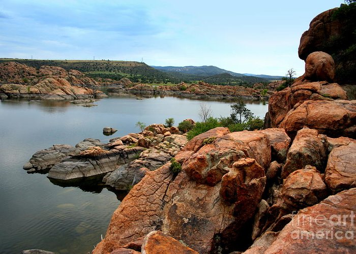 Prescott Greeting Card featuring the photograph Watson Lake by Julie Lueders