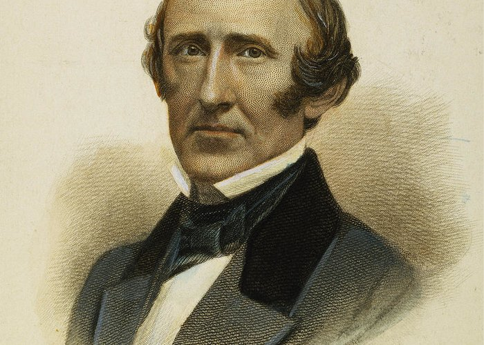 19th Century Greeting Card featuring the photograph Wendell Phillips (1811-1884) by Granger
