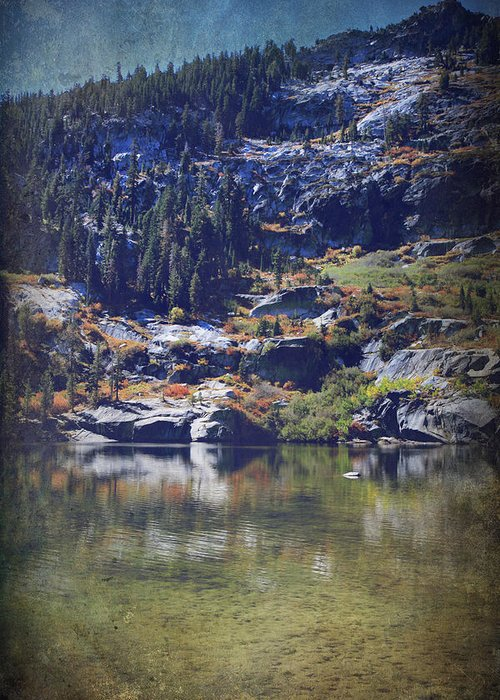 Upper Angora Lake Greeting Card featuring the photograph What Lies Before Me by Laurie Search