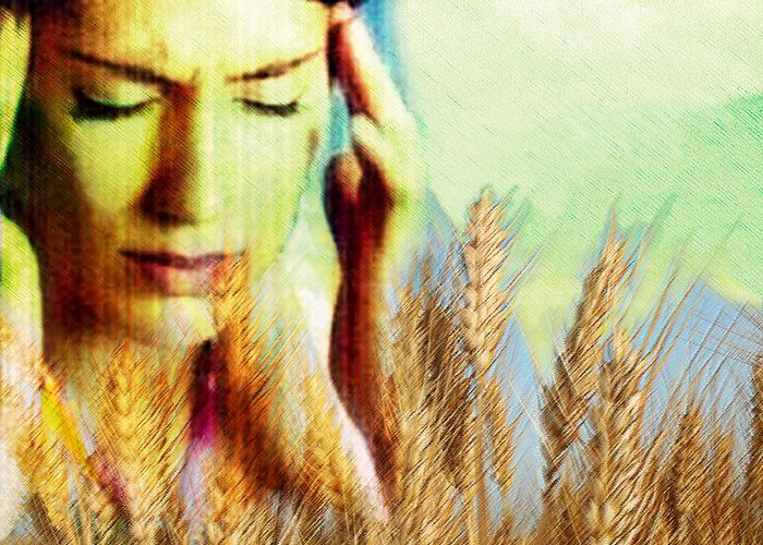 Wheat Greeting Card featuring the photograph Wheat Allergy by Hannah Gal