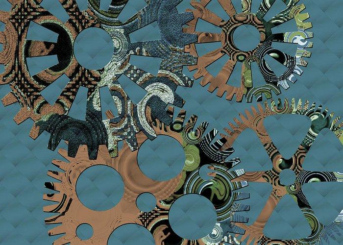 Digital Art Greeting Card featuring the digital art Wheels by Bonnie Bruno