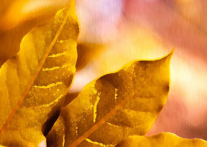 Fall Greeting Card featuring the drawing When Leaves Turn Gold by Artist and Photographer Laura Wrede