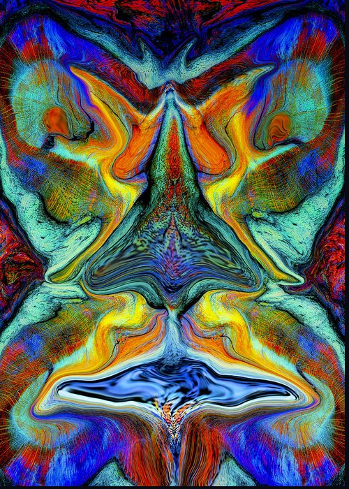 Fantasy Greeting Card featuring the digital art Wild Thing by Stephen Anderson
