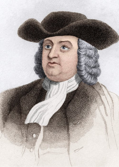 Penn Greeting Card featuring the photograph William Penn, English Coloniser by Sheila Terry
