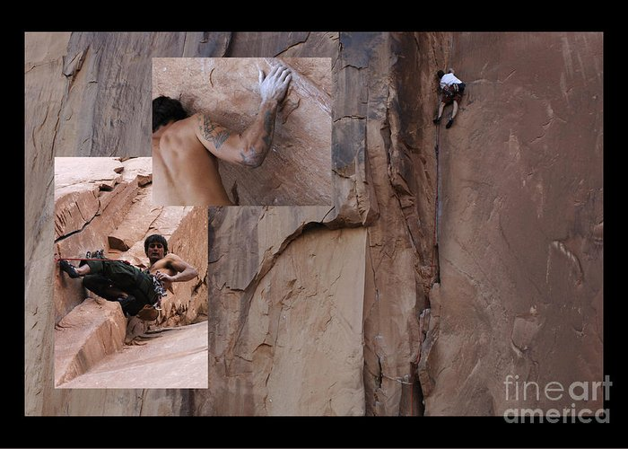 Climbing Greeting Card featuring the photograph Willpower No Caption by Bob Christopher