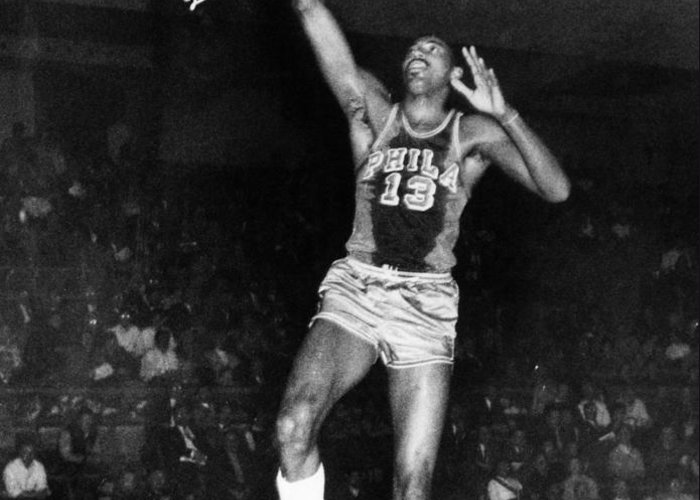 1962 Greeting Card featuring the photograph Wilt Chamberlain (1936-1996) by Granger