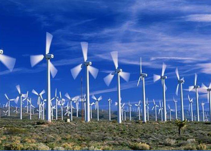 Generator Greeting Card featuring the photograph Wind Turbines, California, Usa by David Nunuk