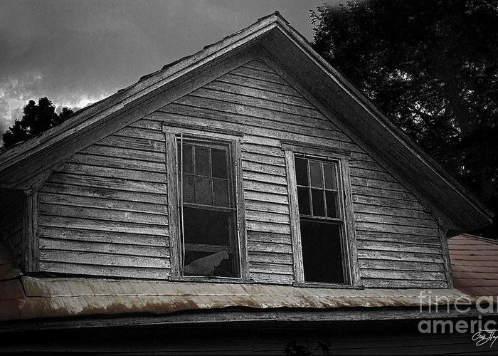 Farm House Greeting Card featuring the photograph Windows In The Soul by Cris Hayes