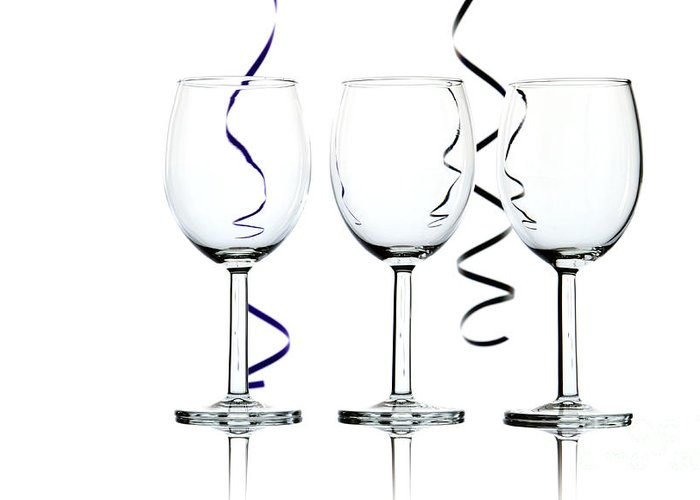 Wine Greeting Card featuring the photograph Wine Glasses by Blink Images