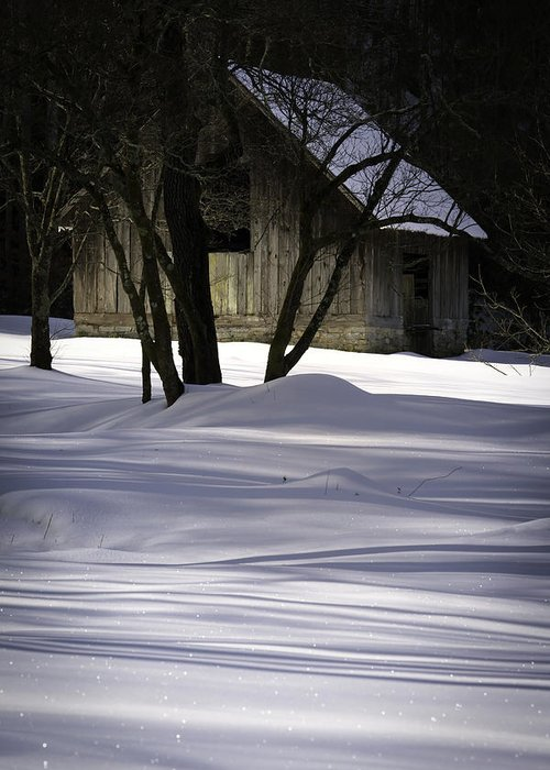Barn Greeting Card featuring the photograph Winter Barn by Rob Travis