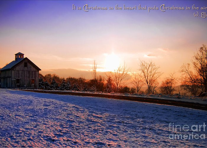 Winter Greeting Card featuring the photograph Winter Landscape Connecticut Usa by Sabine Jacobs