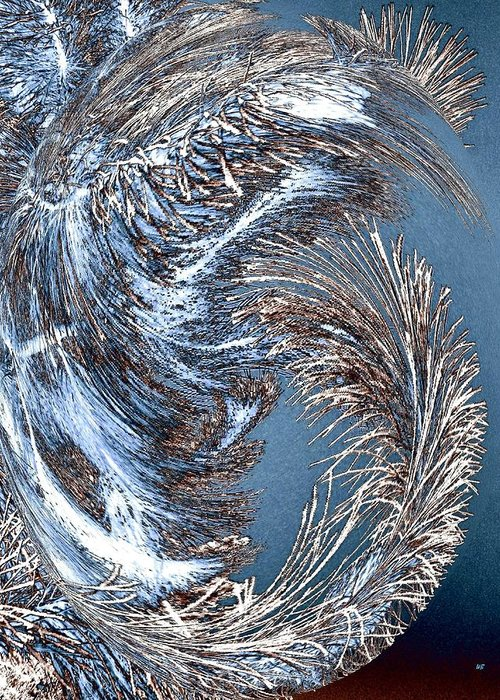 Wintry Pine Needles Greeting Card featuring the digital art Wintry Pine Needles by Will Borden