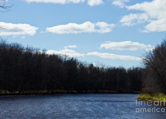 Autumn Greeting Card featuring the photograph Wisconsin's Peshtigo River by Ms Judi