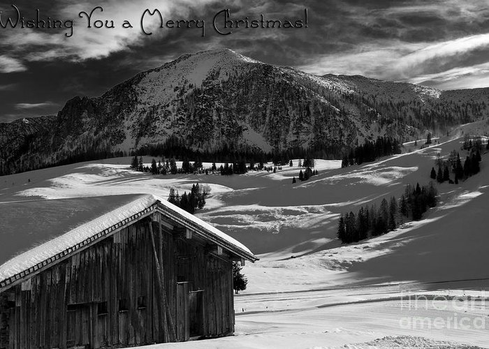 Winter Greeting Card featuring the photograph Wishing You A Merry Christmas Austria Europe by Sabine Jacobs