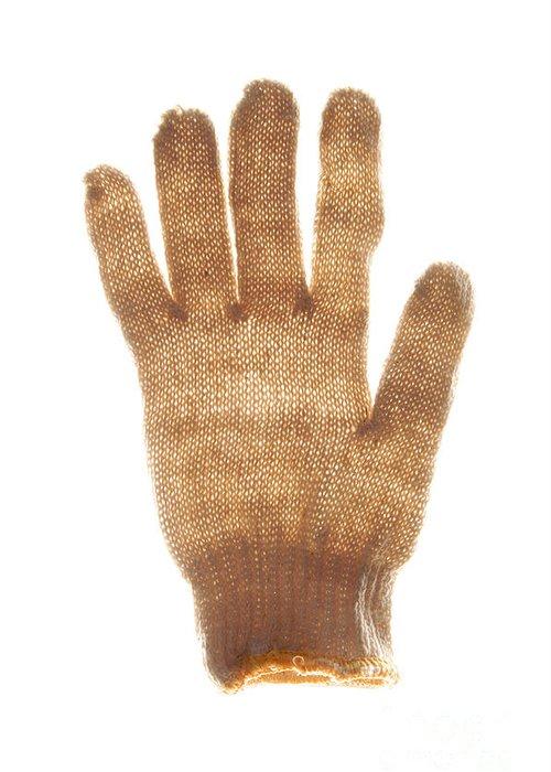 Woolen Greeting Card featuring the photograph Woolen Glove by Bernard Jaubert