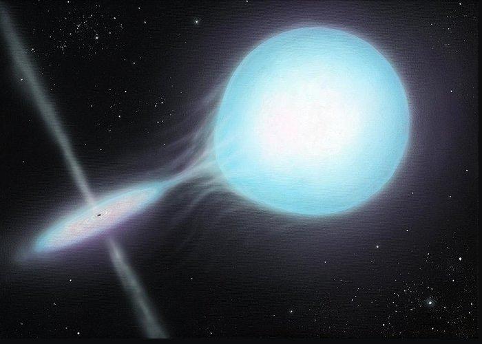 Star Greeting Card featuring the photograph X-ray Binary, Artwork by Richard Bizley