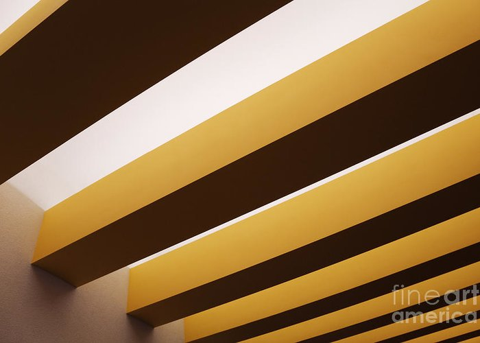 Above Greeting Card featuring the photograph Yellow Ceiling Beams by Jeremy Woodhouse