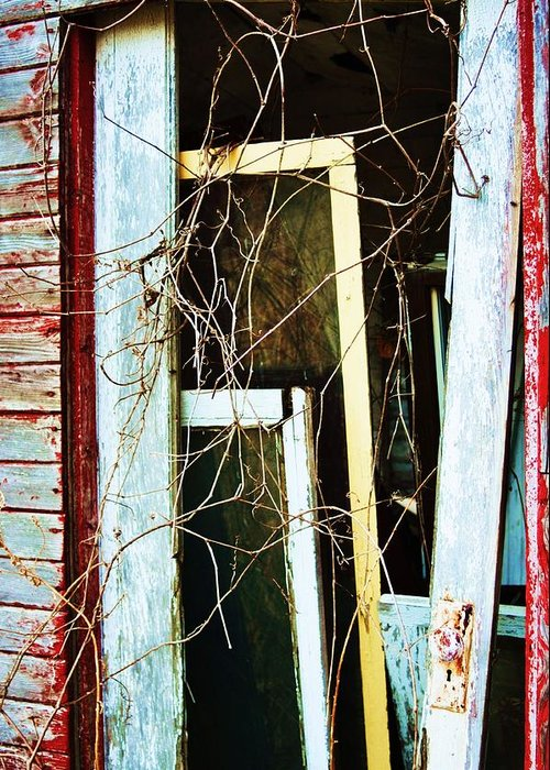 Yellow Door Greeting Card featuring the photograph Yellow Door by Todd Sherlock