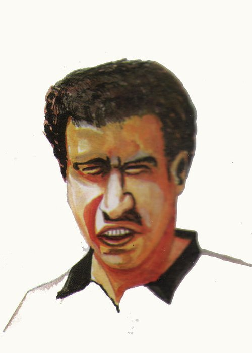 Sports Greeting Card featuring the painting Younes El Aynaoui by Emmanuel Baliyanga