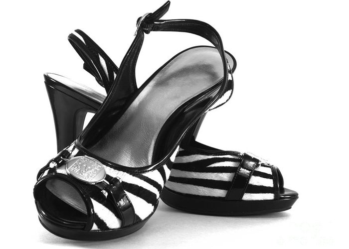 Sandal Greeting Card featuring the photograph Zebra Print Pumps by Blink Images