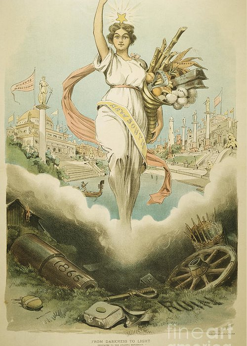 1895 Greeting Card featuring the painting Atlanta Exposition, 1895 by Granger