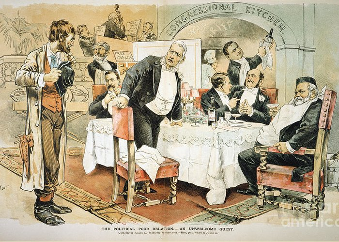 1888 Greeting Card featuring the painting Populist Movement by Granger