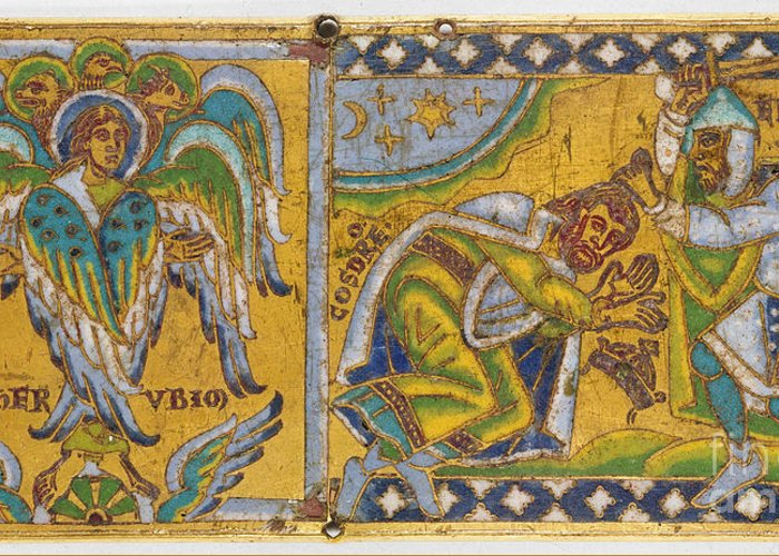 13th Century Greeting Card featuring the painting Heraclius (c575-641 A.d.) by Granger